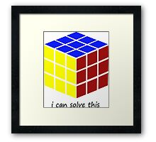 i can solve this 'Rubiks Cube' Framed Print