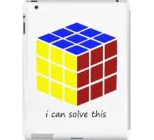 i can solve this 'Rubiks Cube' iPad Case/Skin