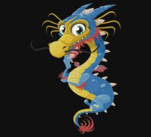 Lovely Dragon Vector Graphic Animinated Image One Piece - Short Sleeve