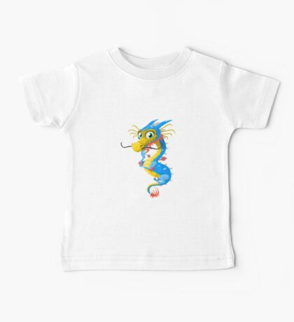Lovely Dragon Vector Graphic Animinated Image Baby Tee