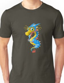 Lovely Dragon Vector Graphic Animinated Image Unisex T-Shirt