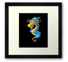 Lovely Dragon Vector Graphic Animinated Image Framed Print