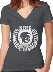Berk Dragon Academy Tee Women's Fitted V-Neck T-Shirt