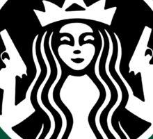 guns and coffee RC Sticker