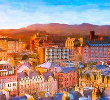 Gorgeous Dawn in Edinburgh Scotland - The Grassmarket by Mark Tisdale