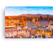 Gorgeous Dawn in Edinburgh Scotland - The Grassmarket Canvas Print