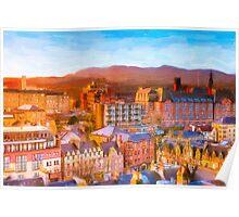 Gorgeous Dawn in Edinburgh Scotland - The Grassmarket Poster