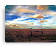 Fields Under a Swirling Sky Canvas Print