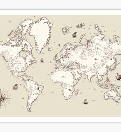 Old world map Sticker