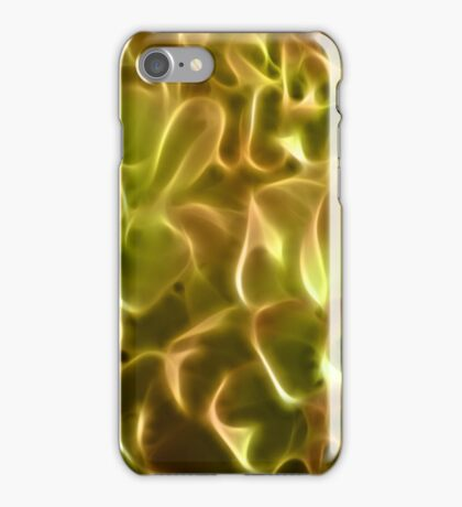 Bright abstract fractal color flower iPhone Case/Skin