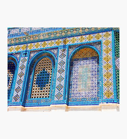 details of the wall decoration on Dome of the rock, Jerusalem, Israel Photographic Print