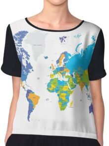 Political world map Chiffon Top