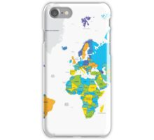 Political world map iPhone Case/Skin
