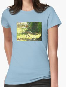 Curlews and young at Wonga Beach, North  Queenland Womens Fitted T-Shirt
