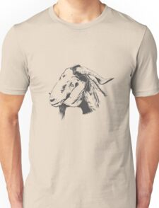 fUNNY Lovely Cute Goat Sketched Unisex T-Shirt