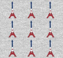 The Eiffel Tower Pattern One Piece - Short Sleeve