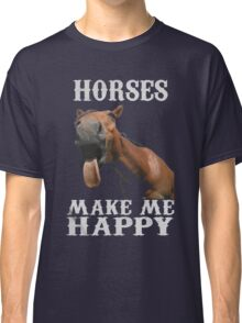 Horses Make Me happy Xmas Shirt Classic T-Shirt