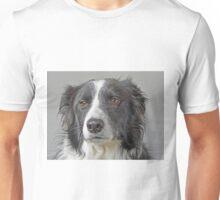 Border Collie Dog Portrait Unisex T-Shirt