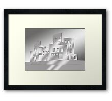 Abstract Gray Scale Architecture Framed Print