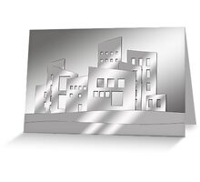 Abstract Gray Scale Architecture Greeting Card