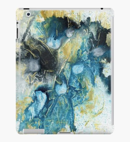 Yellow, blue and black abstract  iPad Case/Skin