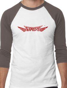 Babymetal - Logo en blanco y rojo Men's Baseball ¾ T-Shirt