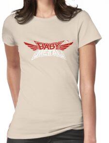 Babymetal - Logo en blanco y rojo Womens Fitted T-Shirt