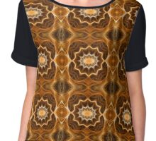 Fractal abstract color pattern Chiffon Top