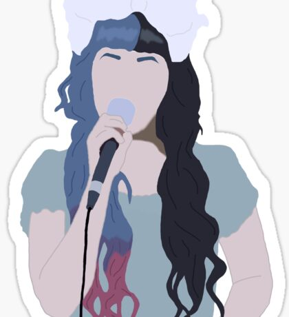 Minimalistic Melanie Drawing Sticker