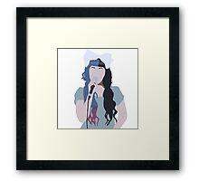 Minimalistic Melanie Drawing Framed Print