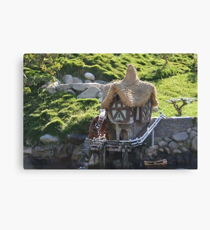 Cottage A Quaint Resting Home Holiday House Canvas Print