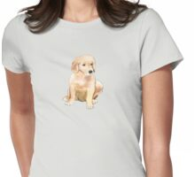 Golden Puppy  Womens Fitted T-Shirt