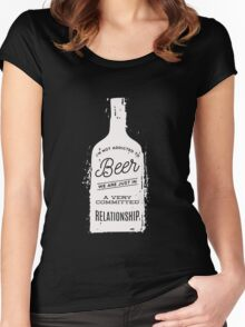 I'm Not Addicted To Beer in A Committed Relationship Funny  Women's Fitted Scoop T-Shirt