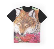 Fox in the Autumn Leaves Graphic T-Shirt
