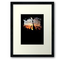 Wild African Sunset Framed Print