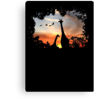 Wild African Sunset Canvas Print