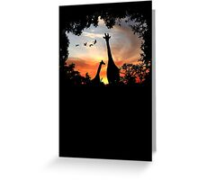 Wild African Sunset Greeting Card