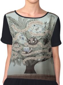 An Inspirational Tree Chiffon Top