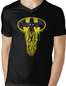 Lovecraft Bat Cthulhu Mens V-Neck T-Shirt