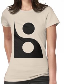 Yin and Yang. Womens Fitted T-Shirt