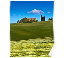 Fields near Pienza, Tuscany Poster