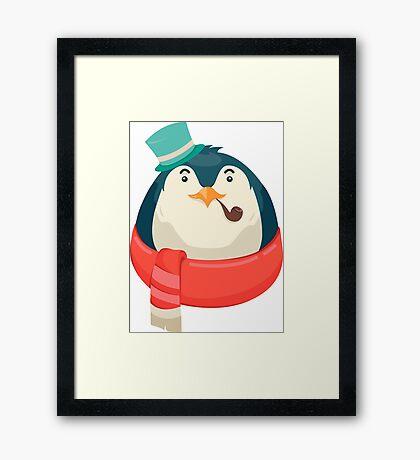 Hipster Penguin Framed Print