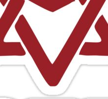astro logo maroon red Sticker