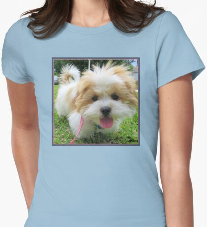 My Fluffy Little Friend Womens Fitted T-Shirt