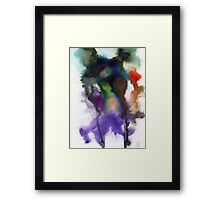 Purple and red abstract Framed Print