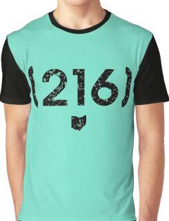 Area Code 216 Ohio Graphic T-Shirt