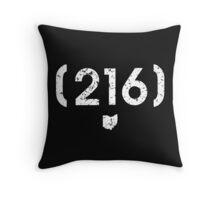 Area Code 216 Ohio Throw Pillow
