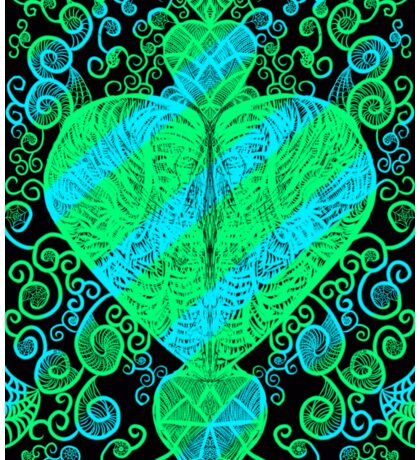 Mixed Emotions (Blue and green) Sticker