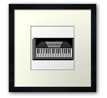 Retro Wurlitzer Keyboard Pixel Art Framed Print