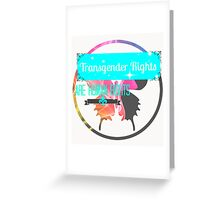 Transgender Rights Are Human Rights - Blue Greeting Card